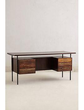 rustic-wood-desk by anthropologie