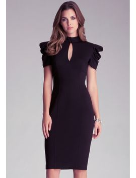 kirstie-pleated-midi-dress by bebe