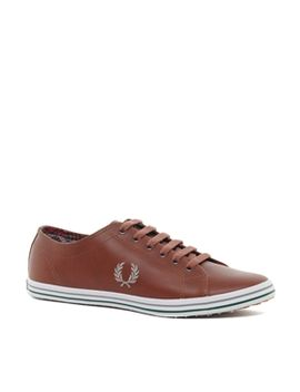 fred-perry-kingston-leather-plimsolls by fred-perry