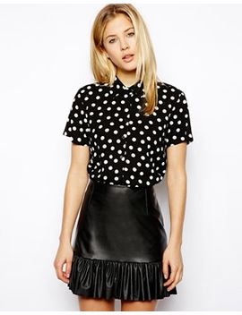 asos-blouse-in-spot-print by asos-collection