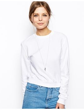 asos-cropped-boyfriend-sweatshirt by asos-collection