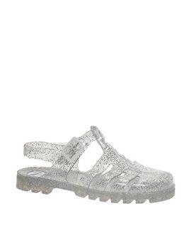 juju-maxi-mega-glitter-slingback-flat-jelly-sandals by juju