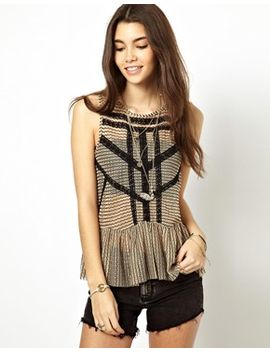 free-people-lace-stripe-peplum-top by asos