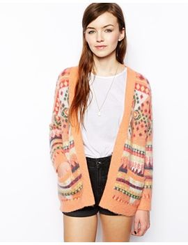 asos-pattern-cardigan-in-brushed-mohair by asos-collection