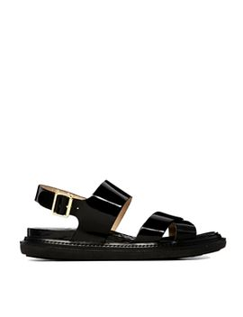river-island-flop-black-chunky-footbed-flat-sandals by river-island