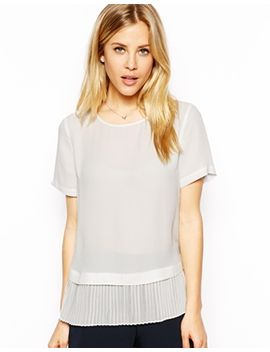 asos-tshirt-with-pleat-hem by asos-collection