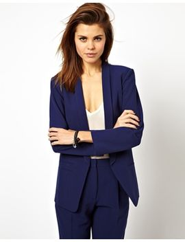 asos-blazer-in-crepe-with-slim-lapel by asos-collection