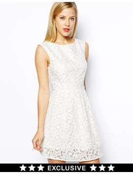 oasis-exclusive-floral-organza-lace-skater-dress by oasis