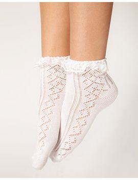 asos-crochet-lace-frill-socks by asos-collection