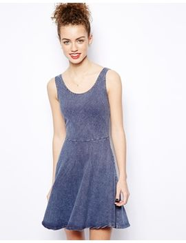 acid-wash-twill-skater-dress by new-look