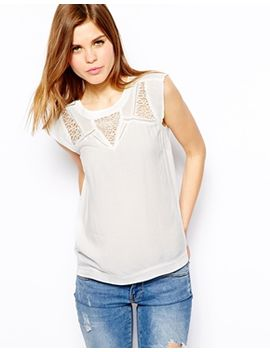 warehouse-pretty-lace-top by warehouse