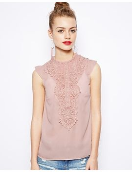 new-look-crochet-insert-high-neck-top by new-look