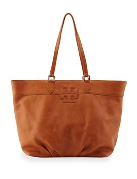 east-west-stacked-logo-tote-bag,-tan by tory-burch