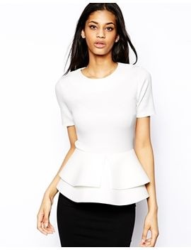 asos-top-with-double-frill-peplum by asos-collection