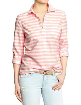 womens-striped-oxford-pullovers by old-navy
