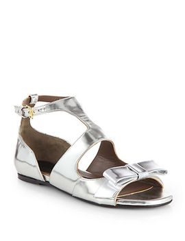 metallic-leather-bow-sandals by marni