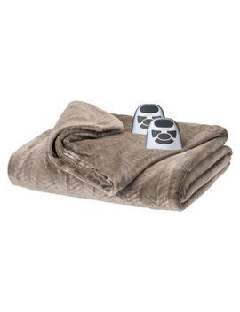 biddeford-electric-velour-chevron-blanket by biddeford-blankets
