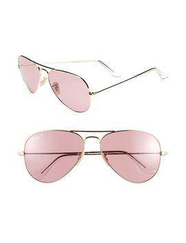 original-aviator-58mm-polarized-sunglasses by ray-ban
