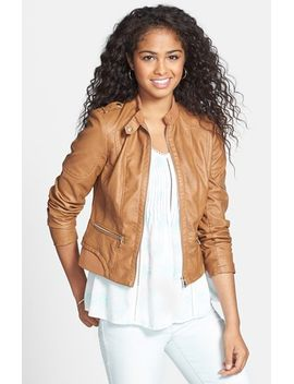 faux-leather-moto-jacket by collection-b