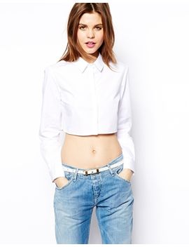 asos-crop-shirt by asos-collection
