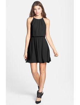 blouson-chiffon-skater-dress by lush