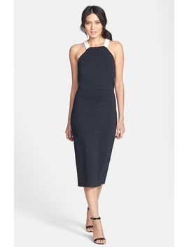 ponte-knit-midi-dress by trouvÉ