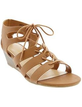 womens-gladiator-wedge-sandals by old-navy