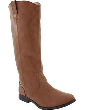 womens-tall-faux-leather-boots by old-navy