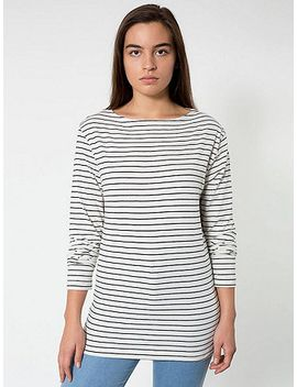 unisex-stripe-long-sleeve-boat-neck-shirt by american-apparel