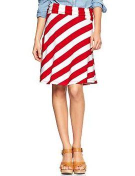 stripe-foldover-skirt by gap