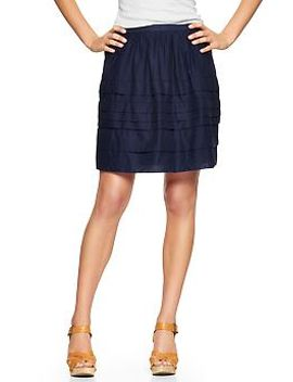 tiered-pintuck-skirt by gap