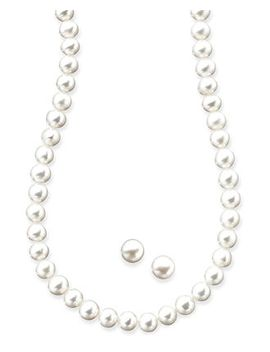 cultured-freshwater-pearl-(5mm)-necklace-and-earring-set-in-sterling-silver by macys