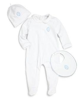 infants-three-piece-cotton-footie,-hat-&-bib-set by dolce-&-gabbana