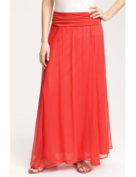 crinkled-maxi-skirt by max-&-mia