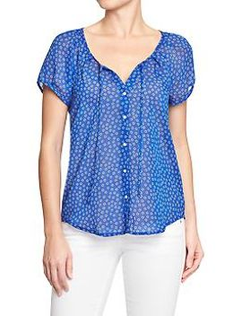 womens-cap-sleeve-chiffon-blouses by old-navy