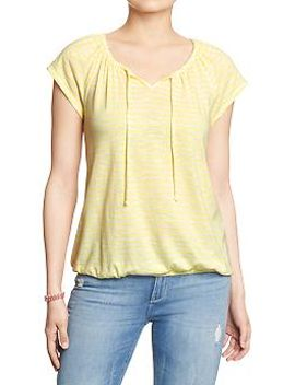womens-striped-splitneck-tops by old-navy