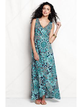 womens-regular-print-fit-and-flare-maxi-dress by lands-end