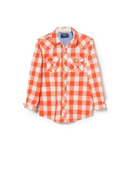 gingham-check-shirt by mango