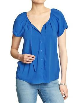 womens-cap-sleeve-rayon-blouses by old-navy