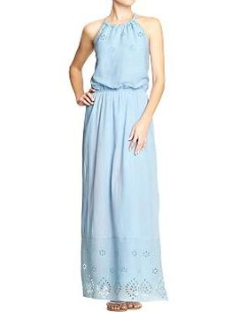womens-crinkle-gauze-eyelet-maxi-dresses by old-navy