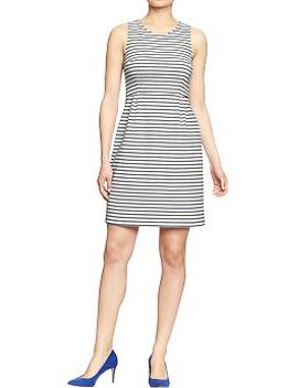womens-striped-sheath-dresses by old-navy