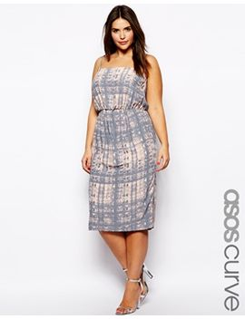 asos-curve-exclusive-cami-dress-in-sketchy-print-in-longer-length by asos-curve