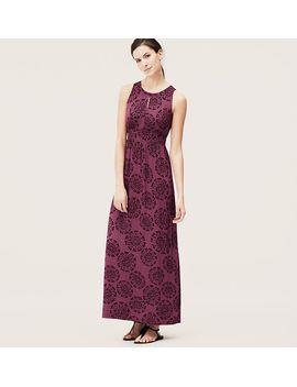 batik-print-keyhole-maxi-dress by loft