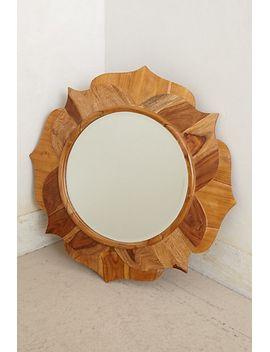 lotus-wood-mirror by anthropologie