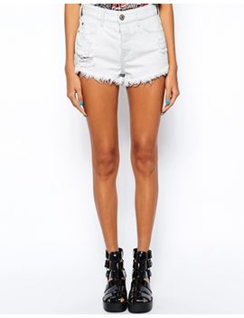 frayed-denim-shorts by river-island