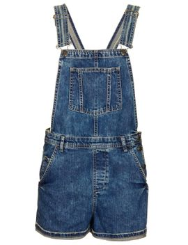 moto-short-denim-dungarees by topshop