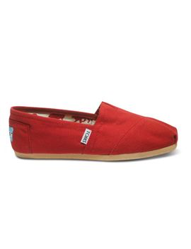 red-canvas-womens-classics by toms