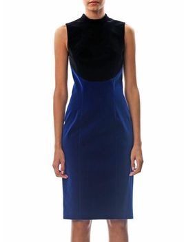 bi-colour-velvet-dress-(157078) by christopher-kane