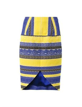 embroidered-lace-stripe-skirt by prabal-gurung