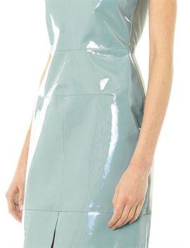 patent-leather-panel-dress by richard-nicoll